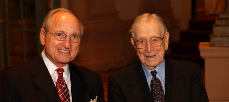 Coaches John Wooden and Vince Dooley
