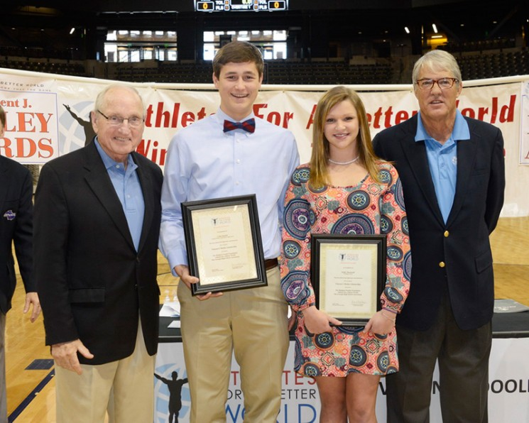 Coach Dooley, Emily Thurmond, Colin Humble, Fred Northup