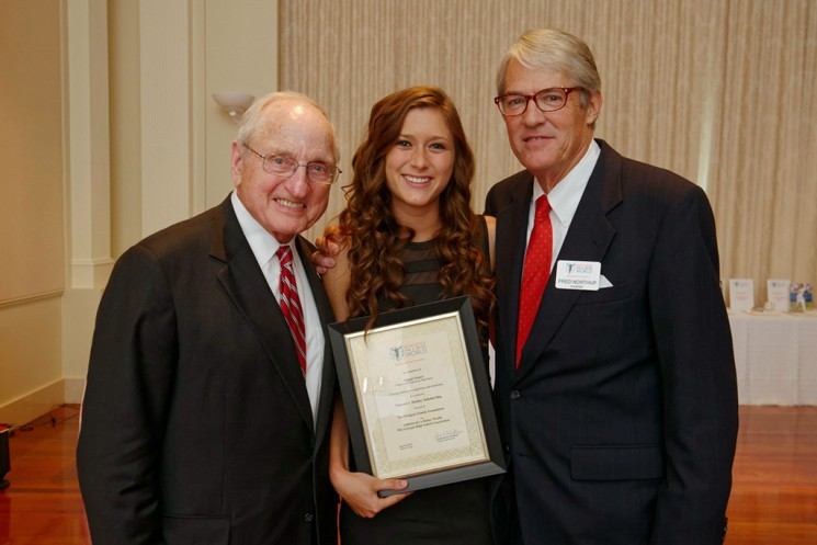 Vince Dooley, Abbi Mabry and Fred Northup